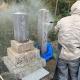 既存のお墓に納骨室を新設させて頂きました。