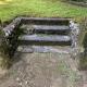 お墓門柱を改修。