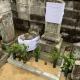 既存墓石の整理。