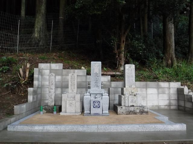 斜面の墓地への施工させて頂きました