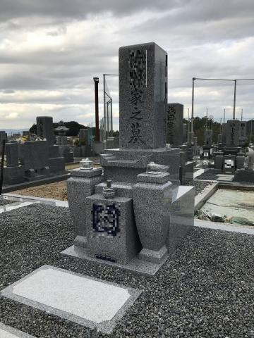 関西型巻石・8寸角墓石