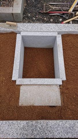 真壁小目9寸型墓石新設