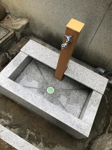 水道の枠石