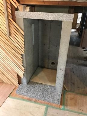 自宅暖炉の石