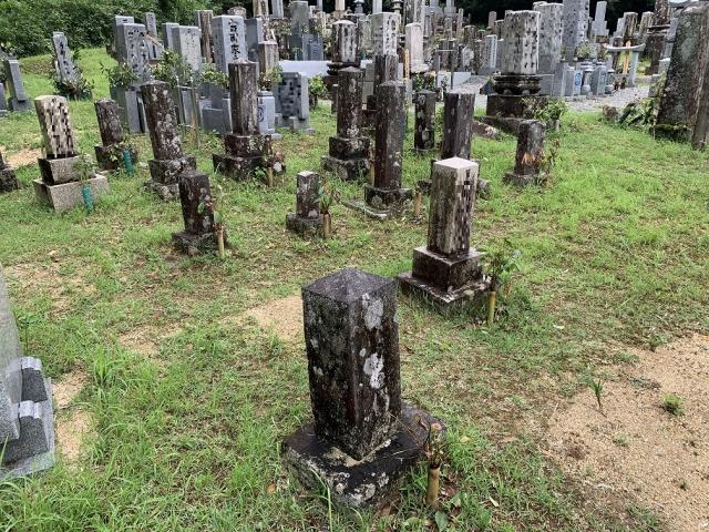 点々と建っていたお墓を一つに。