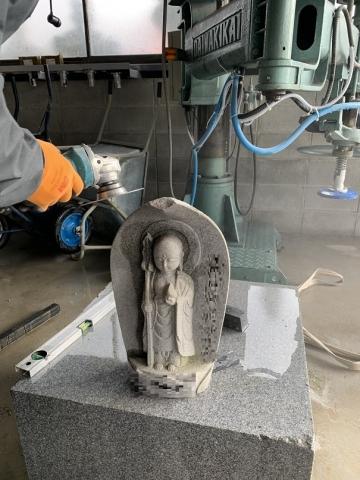 石碑欠け修繕